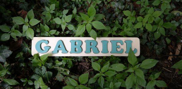 Puzzle prénom Gabriel, vert Martin Pêcheur