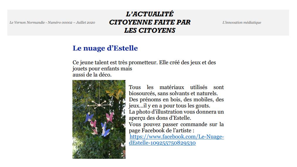 Article de presse Vernon Normandie