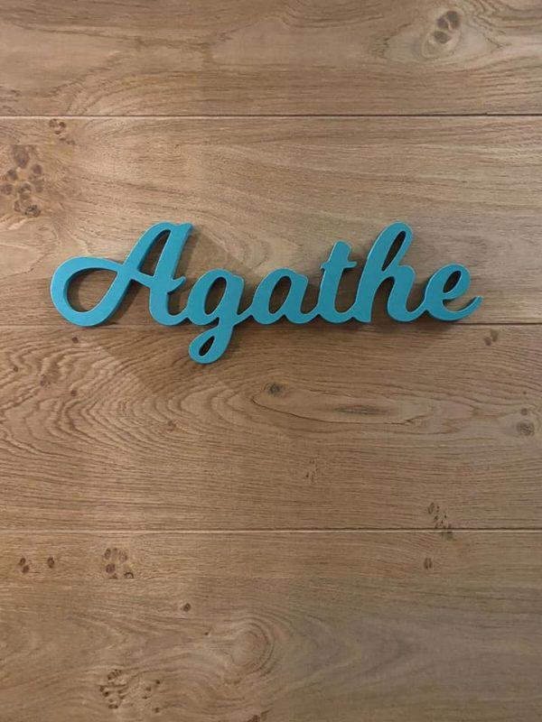 Prénom décoratif pour chambre d'enfant Agathe