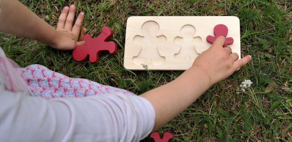 Puzzle bonhommes en bois