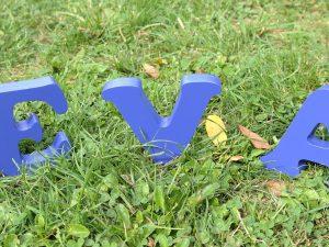 Lettres à poser EVA bleu Jodhpur