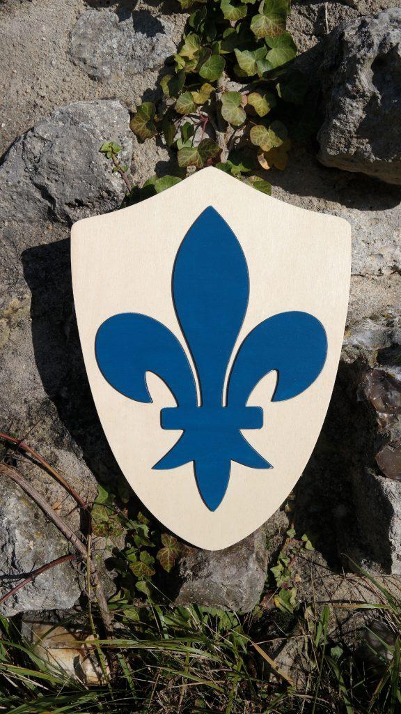 Bouclier Normand Fleur de Lys