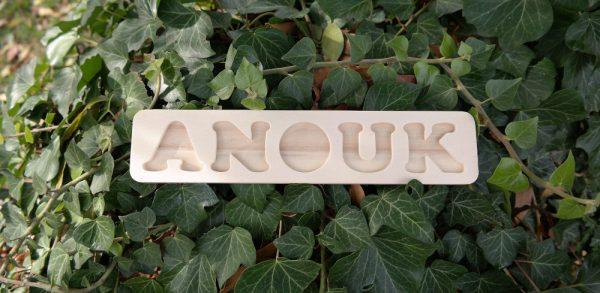 Plateau prénom Anouk