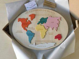 Puzzle continents du monde 1