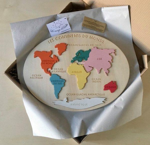 Puzzle continents du monde