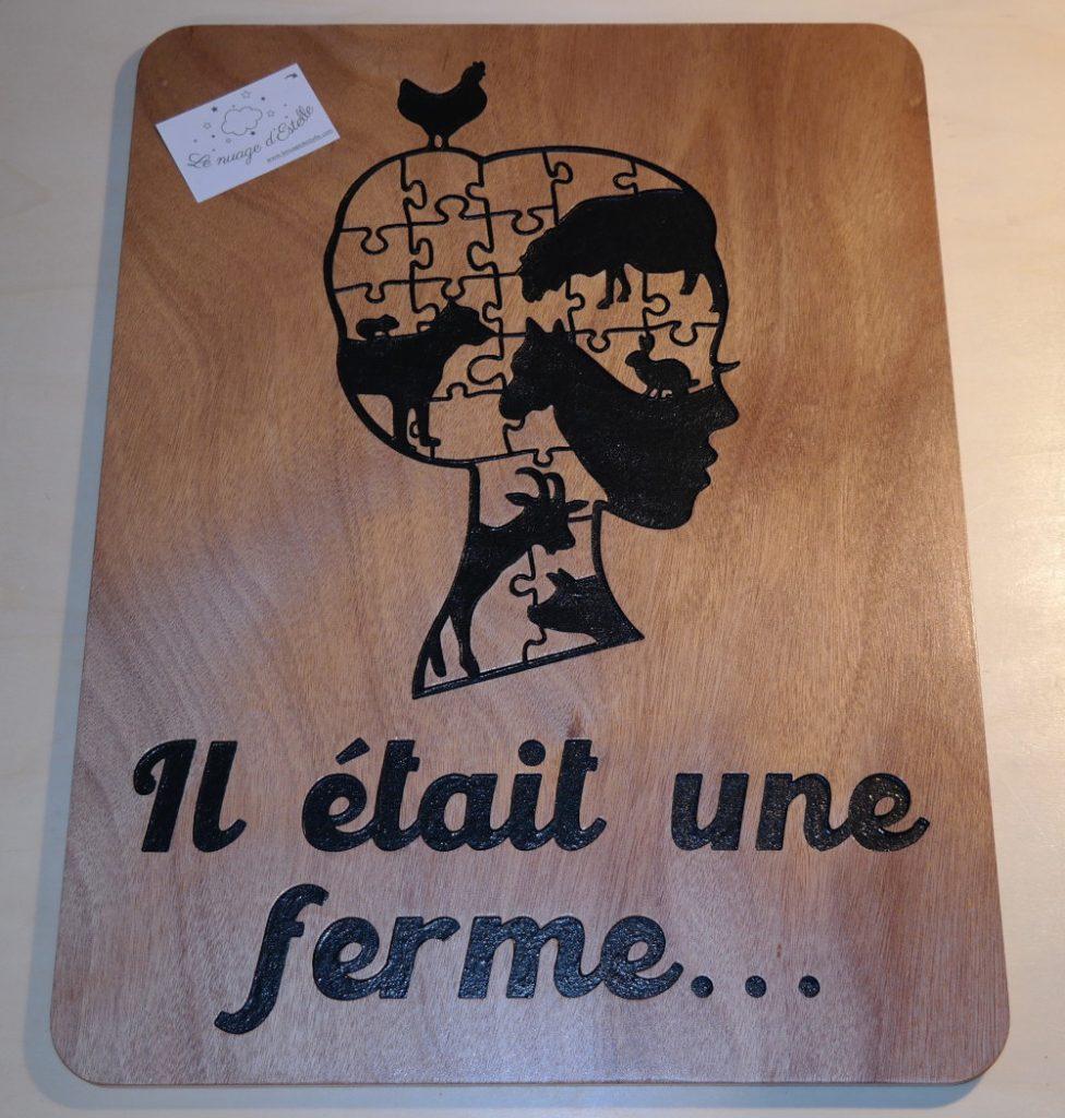 Plaque en bois pour une ferme pédagogique